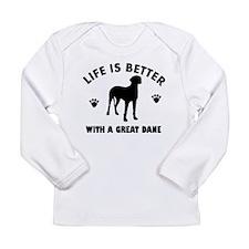 Great Dane breed Design Long Sleeve Infant T-Shirt