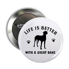 "Great Dane breed Design 2.25"" Button"