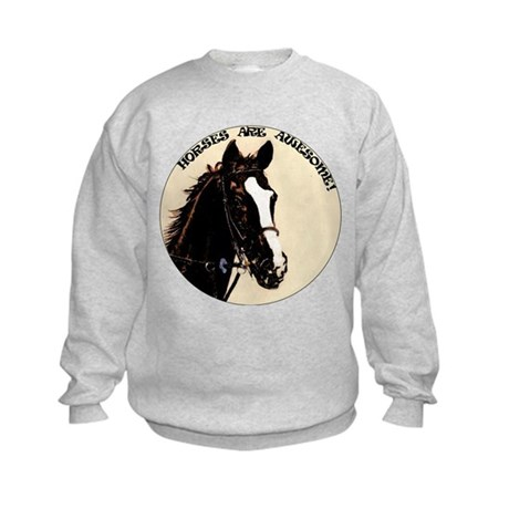 Horses Are Awesome Kids Sweatshirt