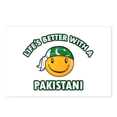 Cute Pakistani designs Postcards (Package of 8)