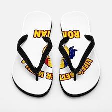 Cute Romanian designs Flip Flops