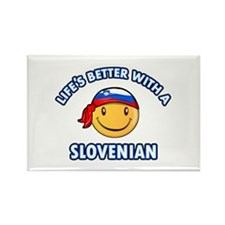 Cute Slovenian designs Rectangle Magnet