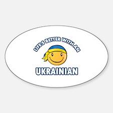 Cute Ukrainian designs Sticker (Oval)