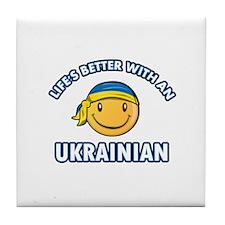 Cute Ukrainian designs Tile Coaster