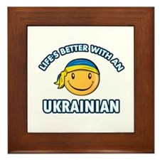 Cute Ukrainian designs Framed Tile