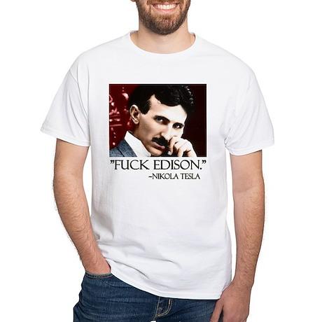 Nikola Tesla White T-Shirt
