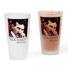 Nikola Tesla Drinking Glass