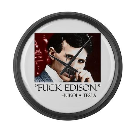 Nikola Tesla Large Wall Clock