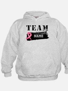 Team Breast Cancer Name Hoodie