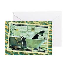 WonderWorld Bathtub Greeting Card