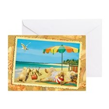 WonderWorld Beach Bear Greeting Card