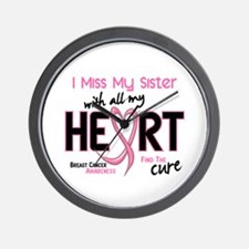 Miss With All My Heart Breast Cancer Wall Clock