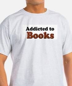 Addicted to Books Ash Grey T-Shirt