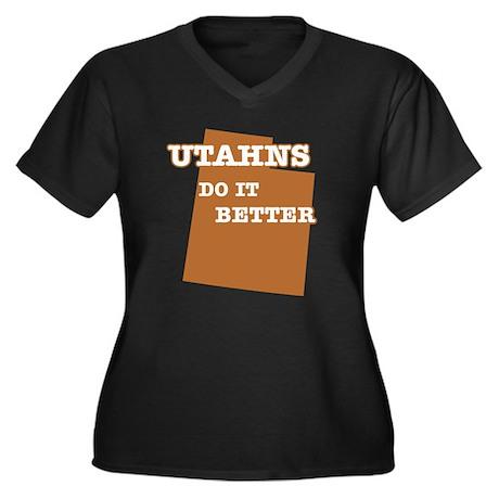 Utahns Do It Better Women's Plus Size V-Neck Dark