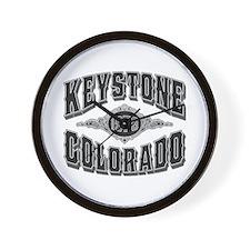 Keystone 1973 Black & Silver Wall Clock