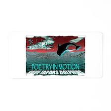 save japans dolphins, kindred Aluminum License Pla
