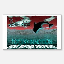 save japans dolphins, kindred Decal
