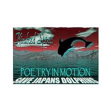 save japans dolphins, kindred Rectangle Magnet
