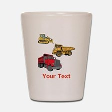 Works Site Vehicles and Text Shot Glass