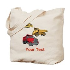 Works Site Vehicles and Text Tote Bag