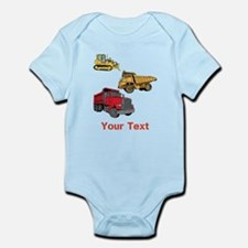 Works Site Vehicles and Text Infant Bodysuit