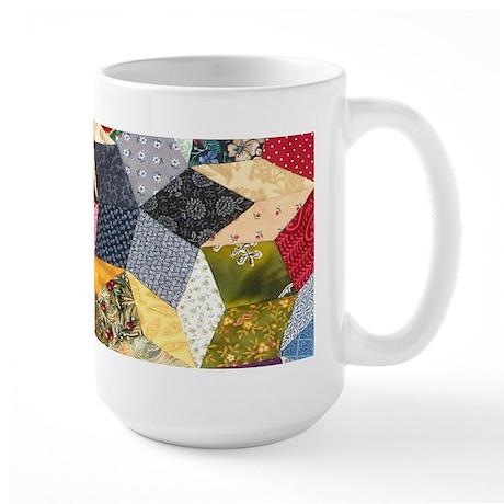 Tumbling Block Patchwork Quilt Large Mug