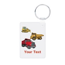 Works Site Vehicles and Text Keychains