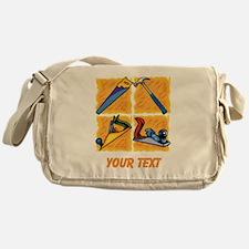 Carpenters Tools and Text. Messenger Bag