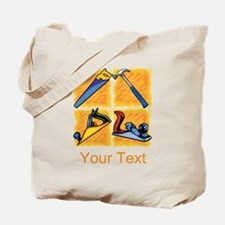 Carpenters Tools and Text. Tote Bag