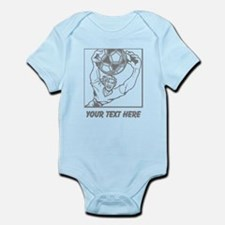 Soccer Goal Keeper and Text. Infant Bodysuit