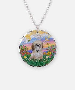 Guardian-Shih Tzu #17 Necklace Circle Charm