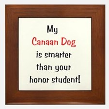 My Canaan Dog is smarter... Framed Tile