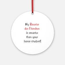 My Bouvier des Flandres is... Ornament (Round)