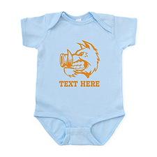 Boar and Custom Text. Infant Bodysuit