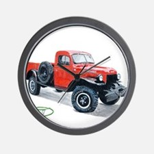 Antique Power Wagon Wall Clock