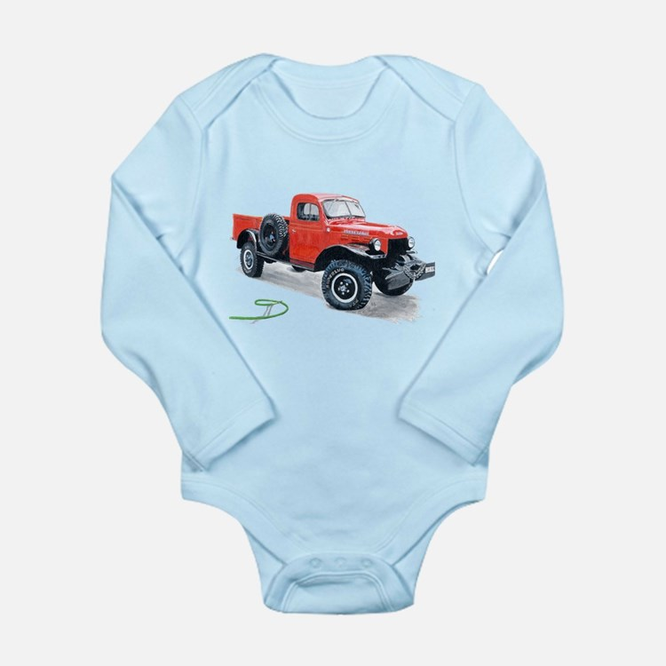 Antique Power Wagon Long Sleeve Infant Bodysuit