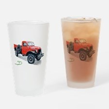 Antique Power Wagon Drinking Glass