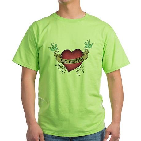 Big Sister Heart Tattoo T-Shirt
