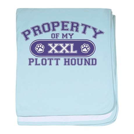 Plott Hound PROPERTY baby blanket