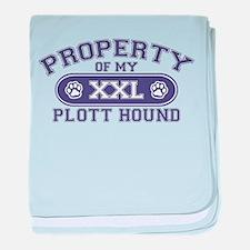 Plott Hound PROPERTY baby blanket