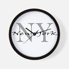 New York thru NY Wall Clock