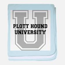 Plott Hound UNIVERSITY baby blanket
