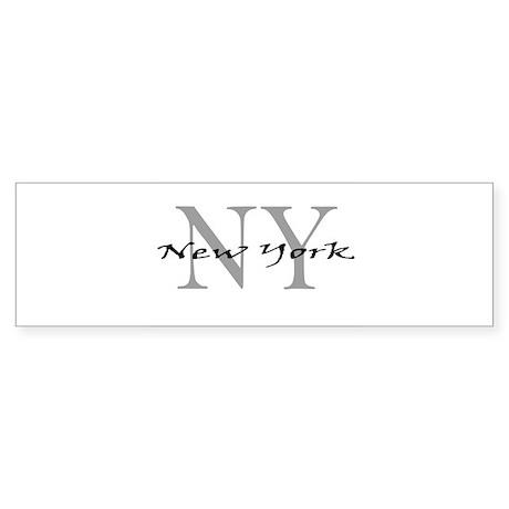 New York thru NY Bumper Sticker