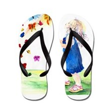 Maggie's Butterflies Flip Flops