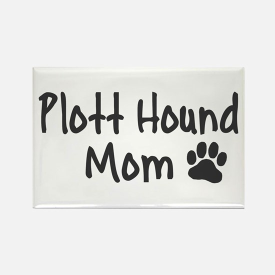 Plott Hound MOM Rectangle Magnet