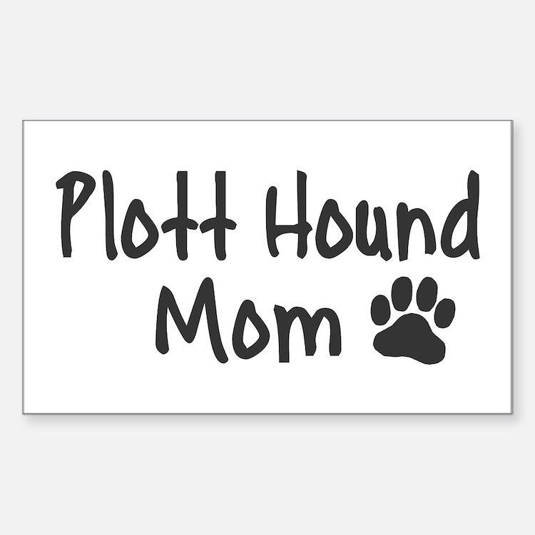 Plott Hound MOM Sticker (Rectangle)