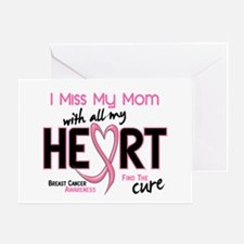 Miss My Mom With All My Heart Breast Cancer Greeti