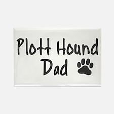 Plott Hound DAD Rectangle Magnet