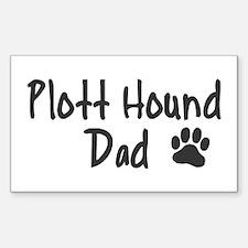 Plott Hound DAD Sticker (Rectangle)