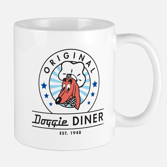 DOGGIE DINER Restaurant Logo #2 Mugs